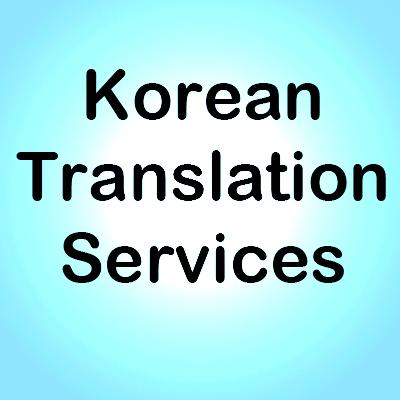 Korean Translation Services